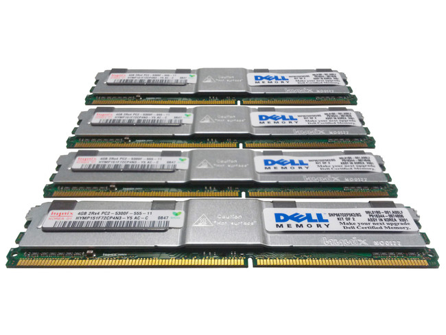 Dell 311-6326 Memory 16GB PC2-5300F 2Rx4 - 4 Pack