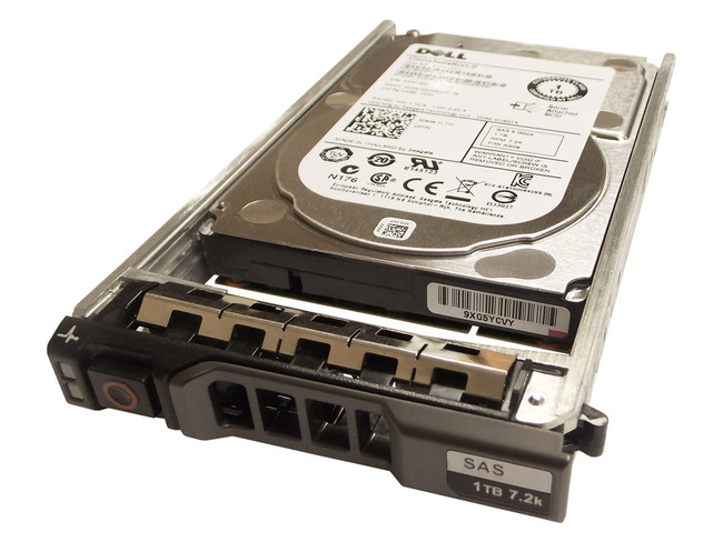 "Dell 9W5WV Hard Drive 1TB 7.2K SAS 2.5"" in Tray"