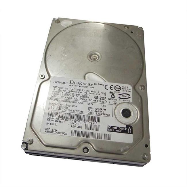 """Dell X8661 Hard Drive 500GB 7.2K SATA 3.5"""""""