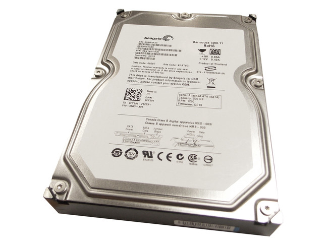 Dell FY291 Hard Drive 500GB 7.2K SATA 3.5""