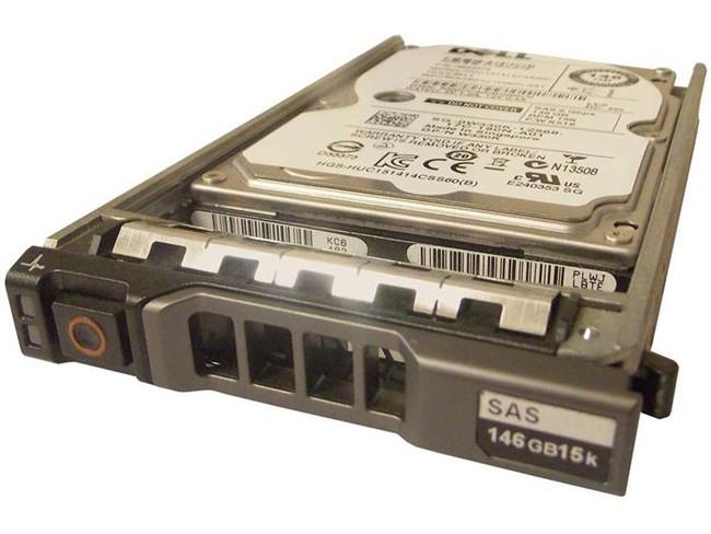 "Dell W330K Hard Drive 146GB 15K SAS 2.5"" in Tray"