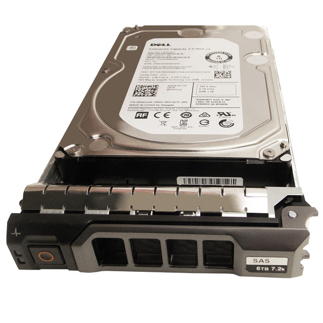 "Dell NWCCG Hard Drive 6TB 7.2K SAS 3.5"" in Tray"