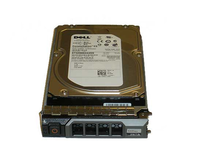 "Dell 37MGT Hard Drive 2TB 7.2K SAS 3.5"" in Tray"