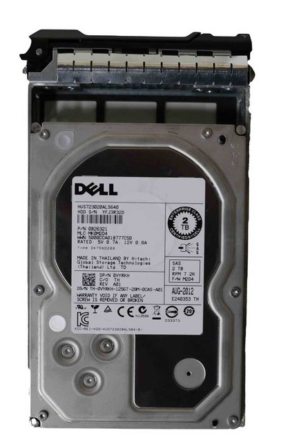 "Dell VYRKH Hard Drive 2TB 7.2K SAS 3.5"" in Tray"