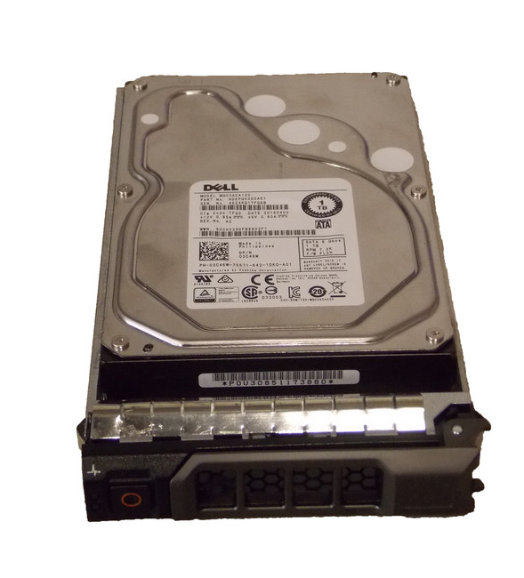 "Dell 3C46W Hard Drive 1TB 7.2K SATA 3.5"" in Tray"