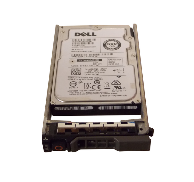 "Dell TRCN6 Hard Drive 600GB 15K SAS 2.5"" in Tray"