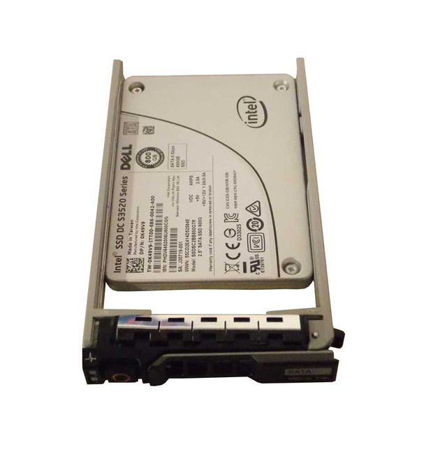 "Dell K49V9 Hard Drive 800GB SATA SSD 2.5"" in Tray - New"