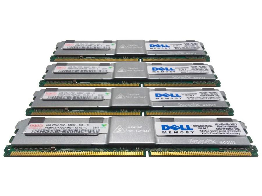 Dell 311-6326 Memory 16GB PC2-5300F 2Rx4 - 4 Pack