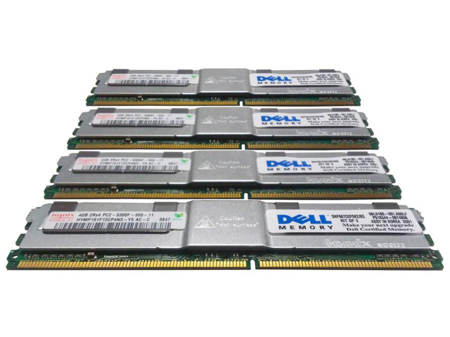 Dell TM143 Memory 16GB PC2-5300F 2Rx4 - 4 Pack