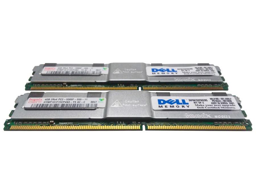 Dell 311-6325 Memory 8GB PC2-5300F 2Rx4 - 2 Pack
