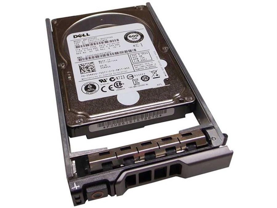 """Dell 5R6CX Hard Drive 600GB 10K SAS 2.5"""" in Tray"""