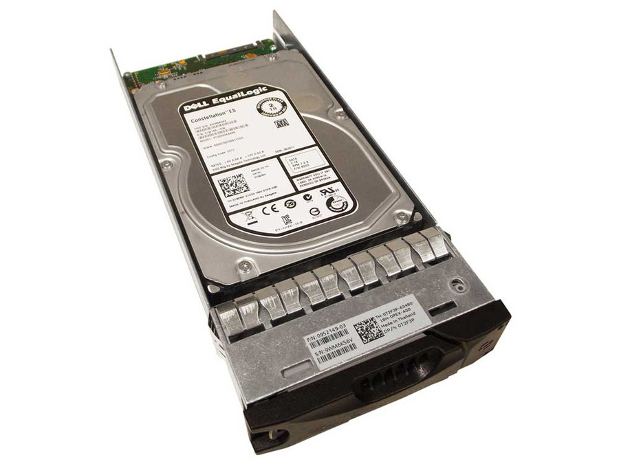 "EqualLogic T2F3P Hard Drive 2TB 7.2K SATA 3.5"" in Tray"