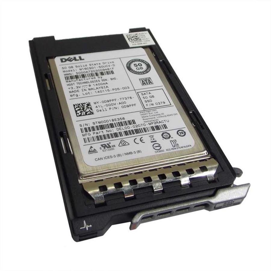 """Dell D9PPF Hard Drive 50GB SSD SATA 1.8"""" MLC in Tray"""