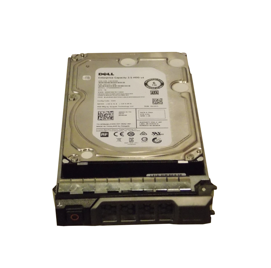 "Dell P00JM Hard Drive 6TB 7.2K SATA 3.5"" in Tray"