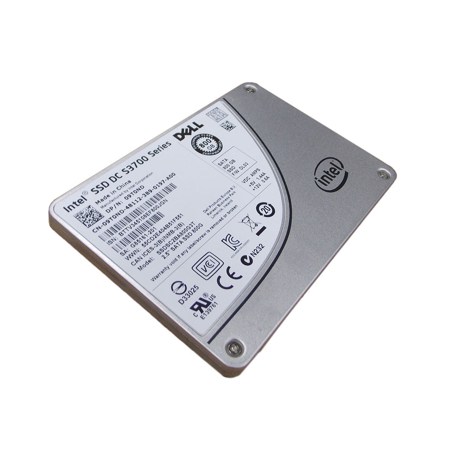 "Dell 9T0ND Hard Drive  800GB SATA SSD 2.5"" in Tray"