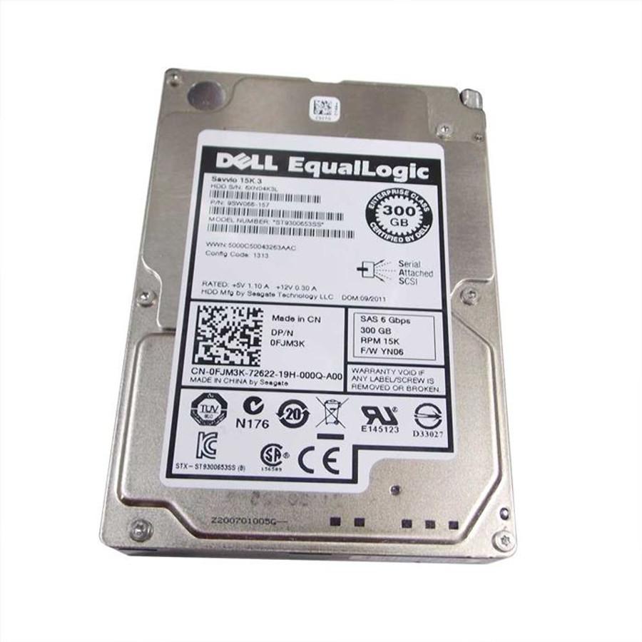 """Dell FJM3K Hard Drive 300gb 15K SAS 2.5"""" Equallogic"""