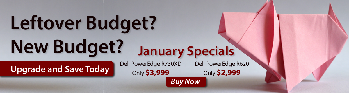 Leftover Budget, New Budget, Upgrade and Save today with these January Specials