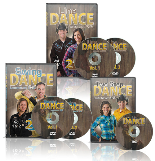Country Dance Lessons on DVD 5 Disc set