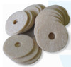 LW disks cleaners and deodorizers for portable restroom toilets.