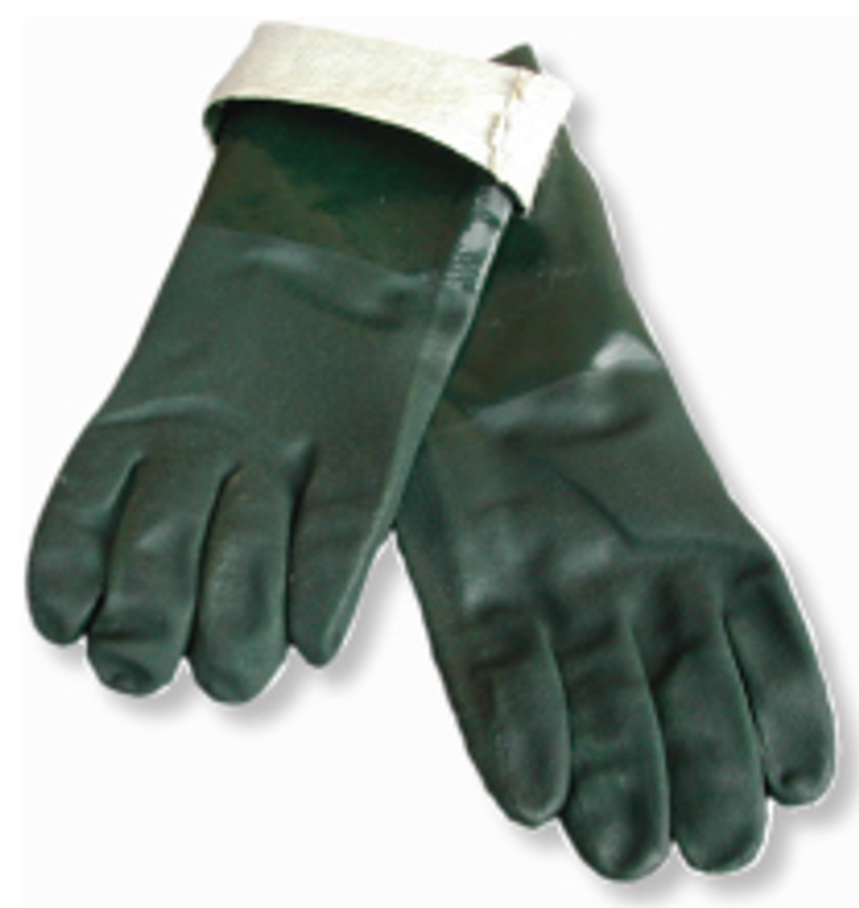 jersey lined work gloves green pvc