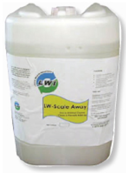 LW Scale Away urinal cleaner portable restroom cleaners and deodorizers.