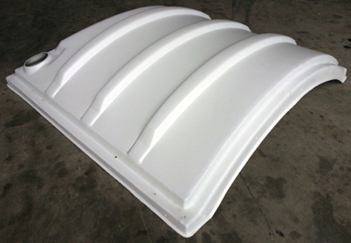 Poly style portable restroom replacement roof.