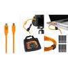 TETHER TOOLS STARTER TETHERING KIT WITH USB 3.0 TYPE-A TO TYPE-C CABLE (15' - ORANGE)