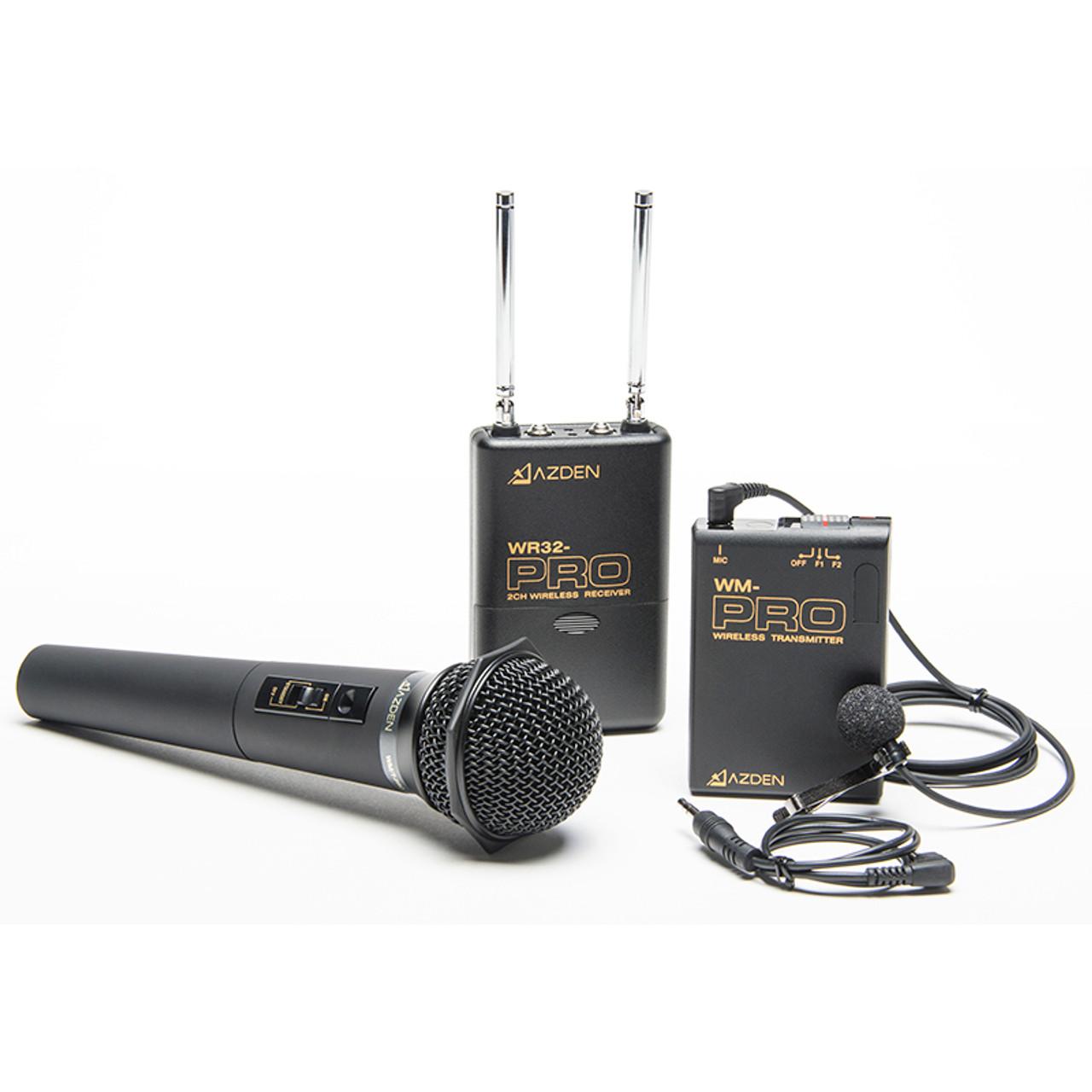 AZDEN WDM-PRO DUAL CHANNEL VHF WIRELESS MICROPHONE