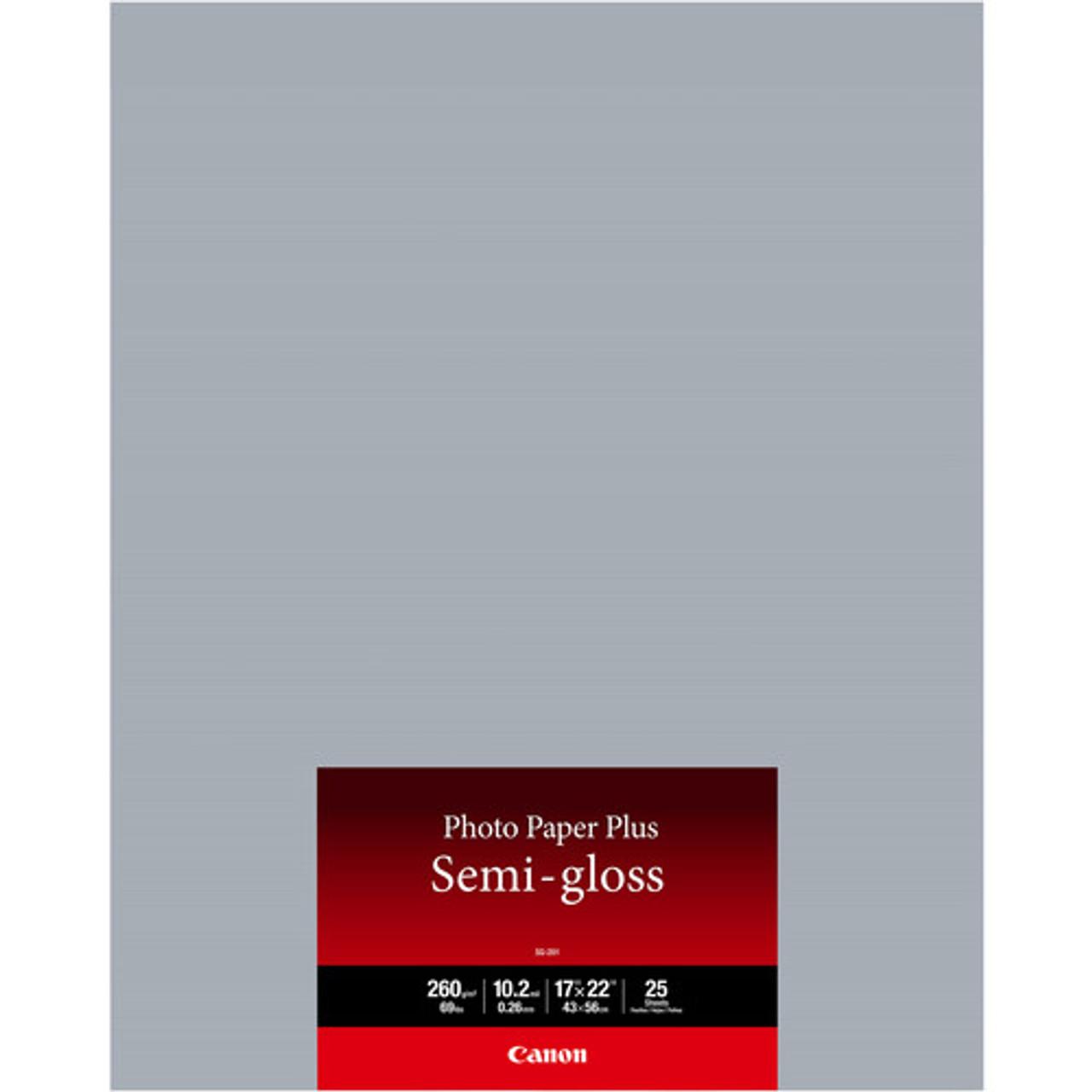 CANON PHOTO PAPER PLUS SEMI-GLOSS (17X22 - 25 SHEETS)