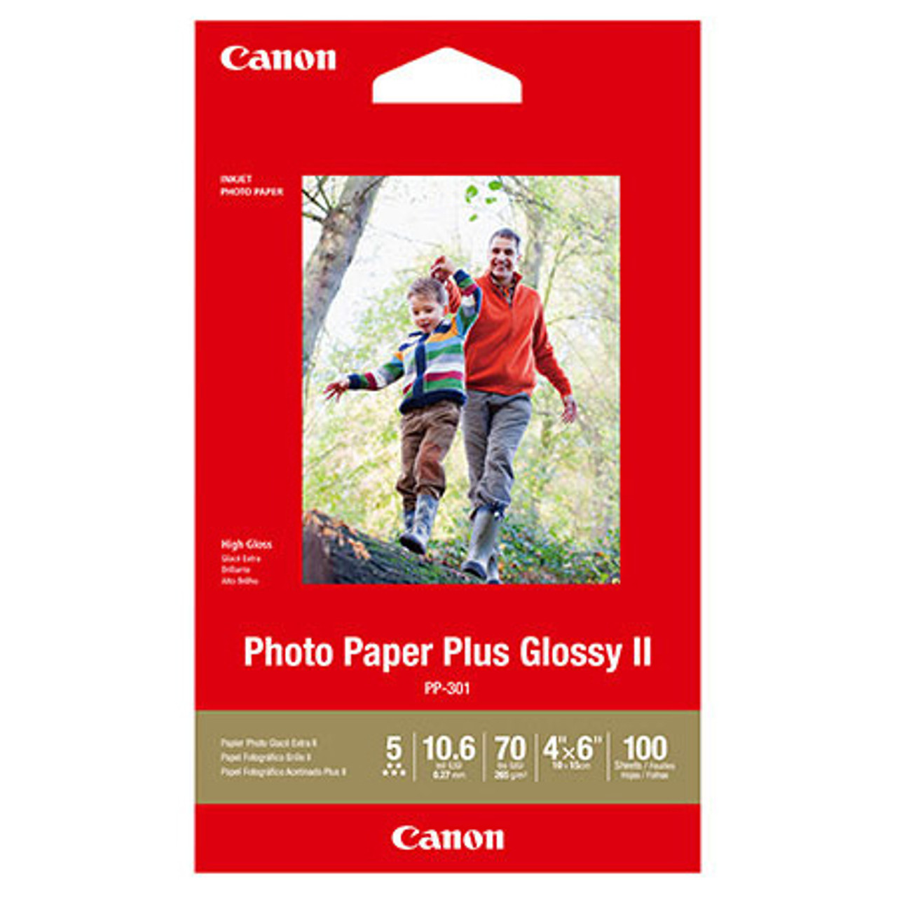 CANON PHOTO PAPER PLUS GLOSSY II (4X6 - 100 SHEETS)