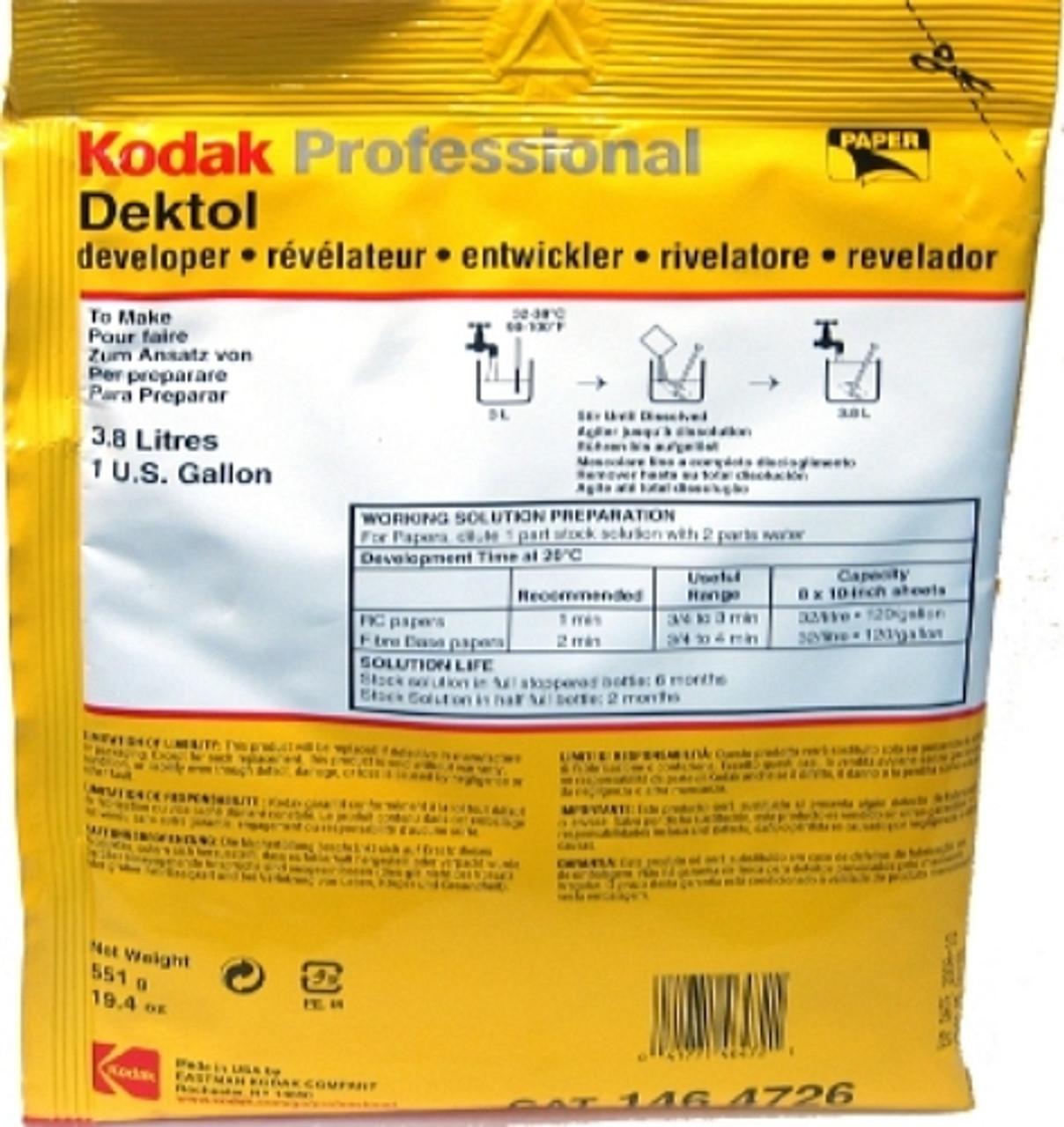 KODAK DEKTOL DEVELOPER (1-GAL)