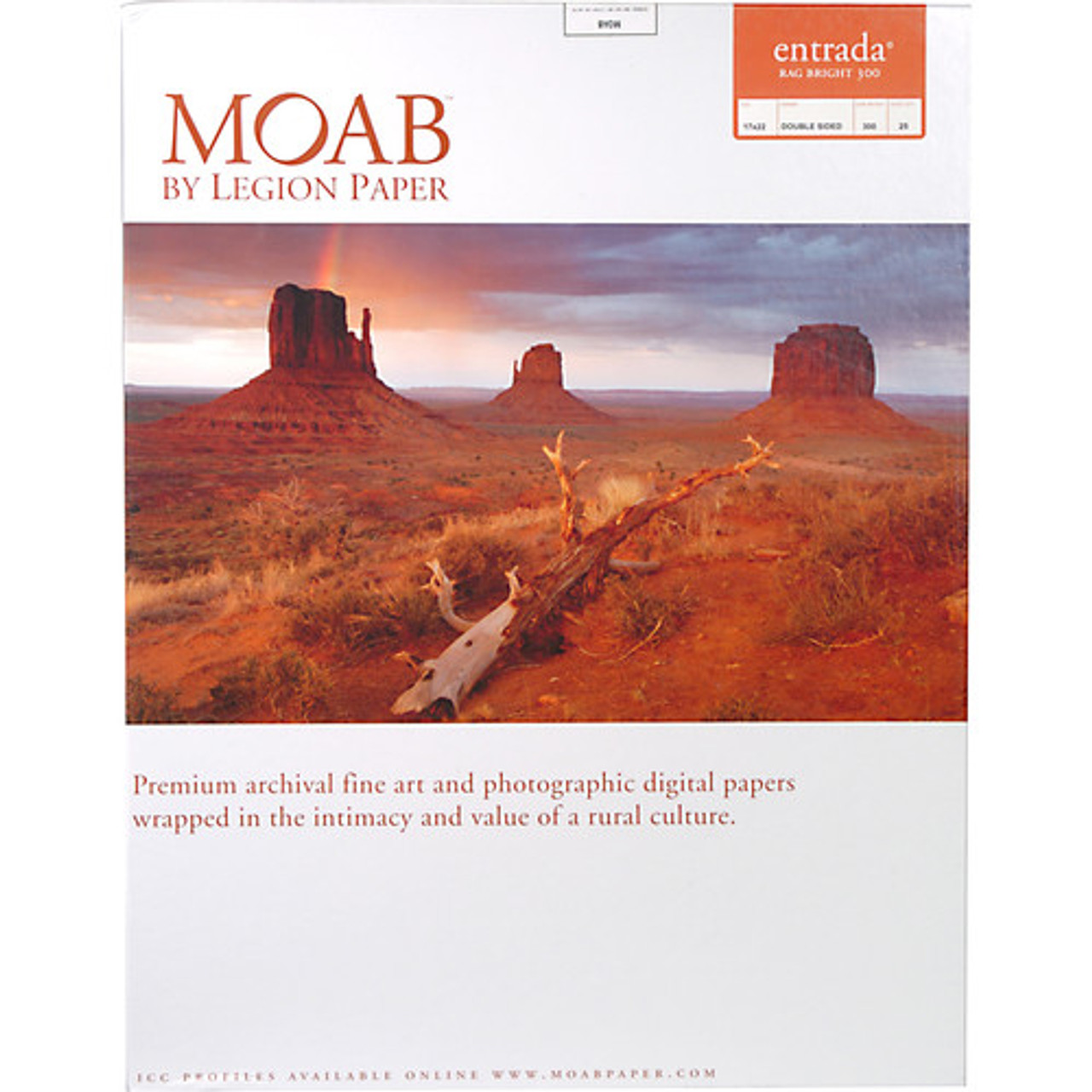 MOAB ENTRADA RAG BRIGHT 300 - DOUBLE SIDED (17X22 - 25 SHEETS)