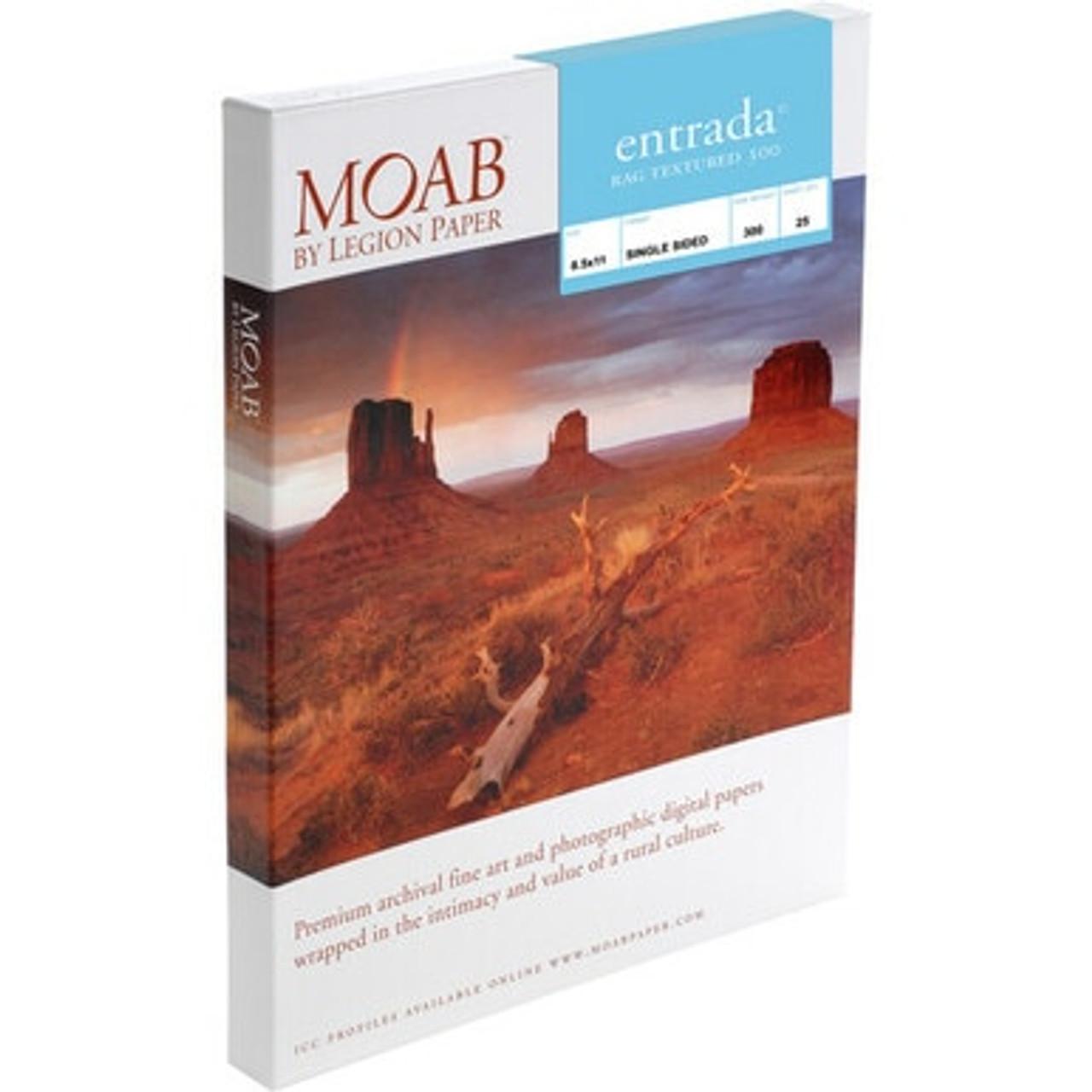 MOAB ENTRADA RAG TEXTURED 300 (13X19)(25 SHEETS)