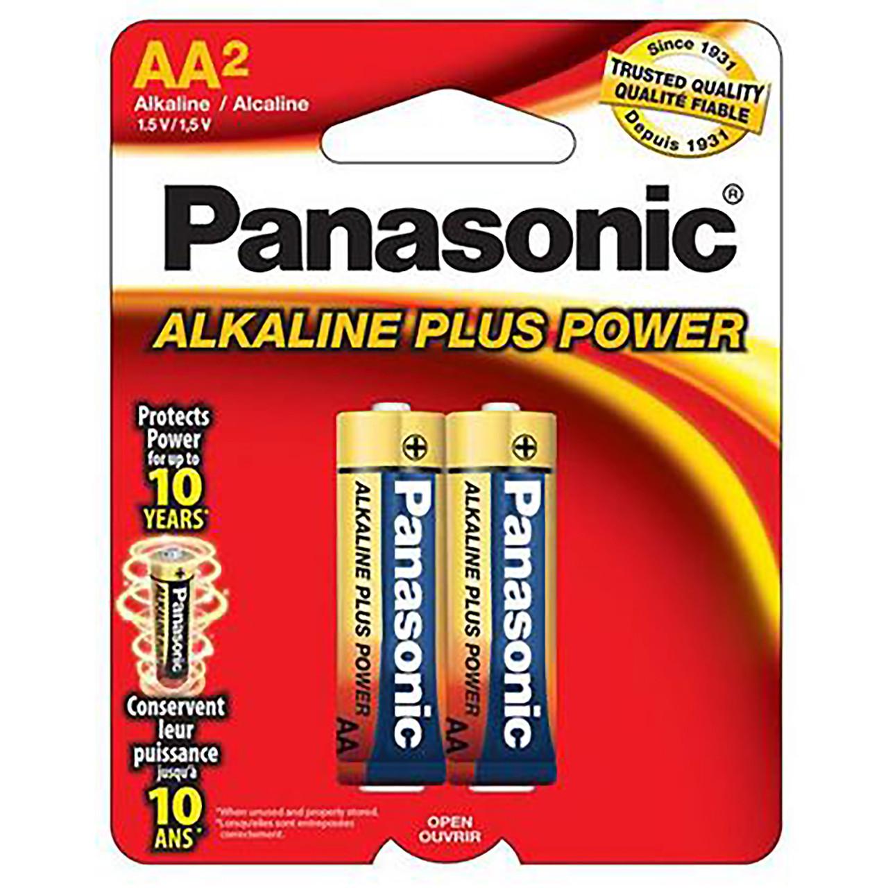 PANASONIC AA ALKALINE BATTERY (2 PK)