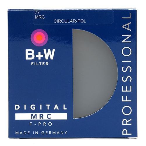 B+W CIRCULAR POLARIZER MRC FILTERS