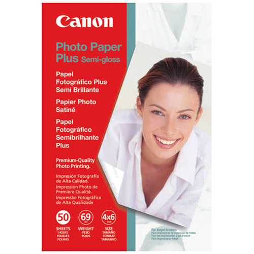 CANON PHOTO PAPER PLUS SEMI-GLOSS (4X6 - 50 SHEETS)