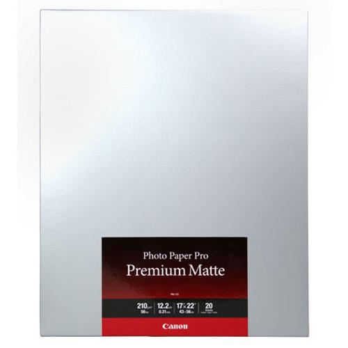 CANON PHOTO PAPER PREMIUM MATTE (17X22 - 20 SHEETS)
