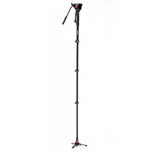 MANFROTTO XPRO MONOPOD+ 4-SECTION MONOPOD W/VIDEO HEAD