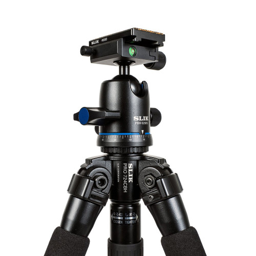 SLIK PRO 724 TRIPOD KIT W/ BALL HEAD (CARBON FIBER)