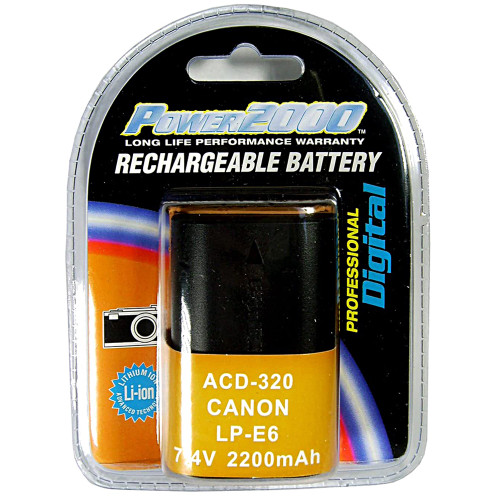 POWER2000 CANON LP-E6N BATTERY REPLACEMENT (ACD-450)