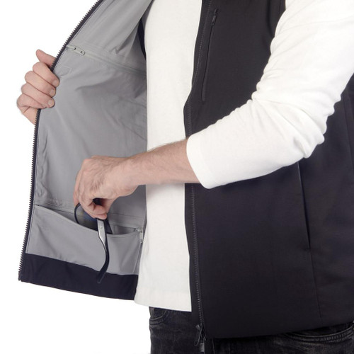 PACSAFE TRANSIT RFID VEST - MEN'S BLACK (MEDIUM)