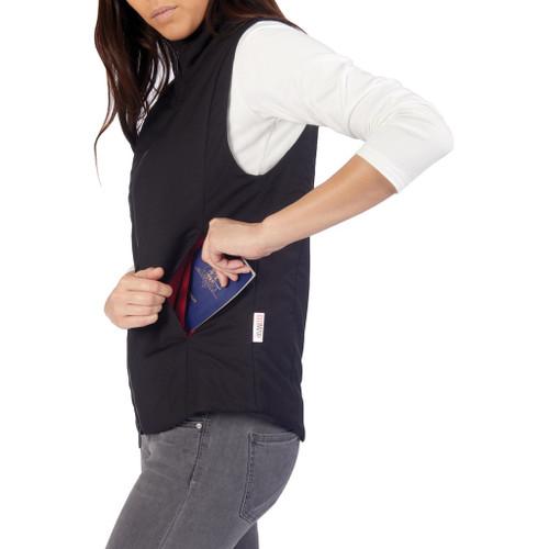 PACSAFE TRANSIT RFID VEST - WOMEN'S BLUE (XL)