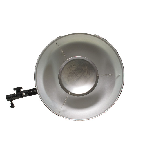 "USED 12"" BEAUTY DISH W/BRACKET"