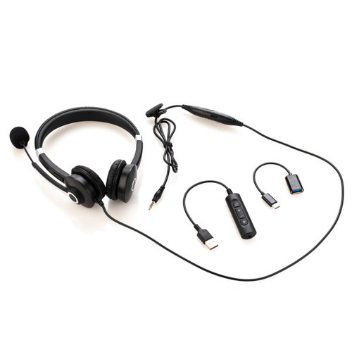 MEVIDEO WIRED STEREO HEADSET MICROPHONE