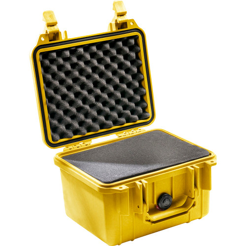 PELICAN 1300 PROTECTOR CASE WITH FOAM INSERT (YELLOW)