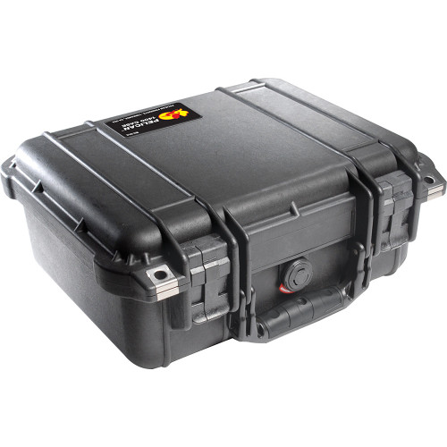 PELICAN 1400 PROTECTOR CASE WITH FOAM INSERT (BLACK)