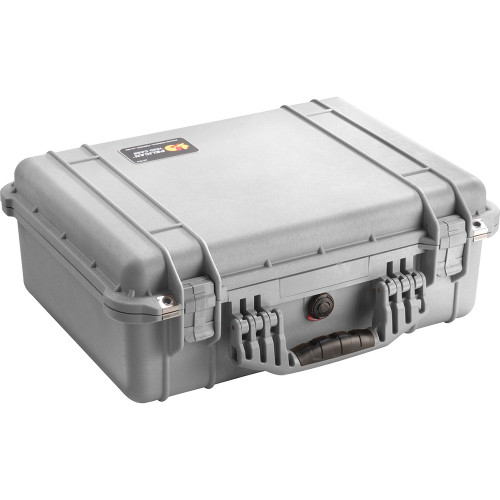 PELICAN 1520 PROTECTOR CASE WITH FOAM INSERT (SILVER)