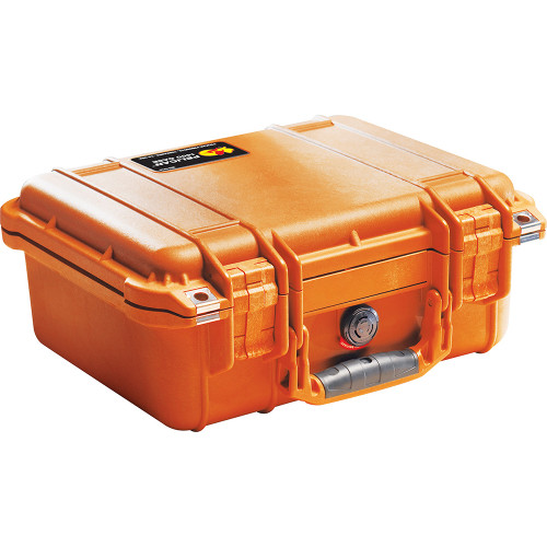 PELICAN 1400 PROTECTOR CASE WITH FOAM INSERT (ORANGE)