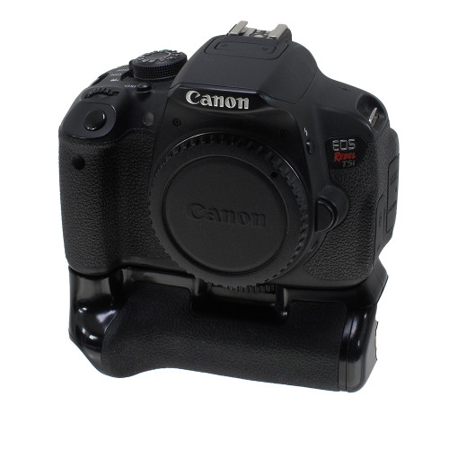 USED CANON EOS REBEL T5I W/ GRIP