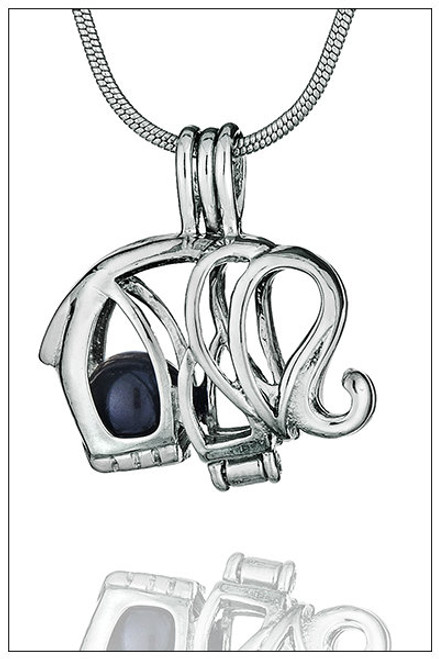 ELEPHANT pearl in cage necklace - ©PearlsIsland.com